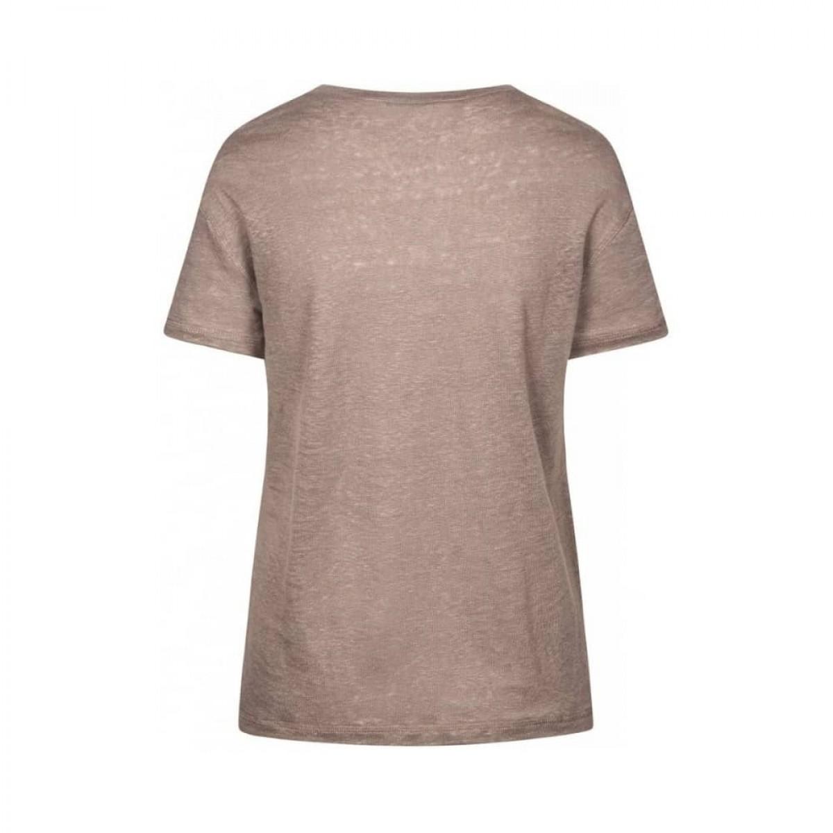 sif v-hals t-shirt - hazy brown - ryggen