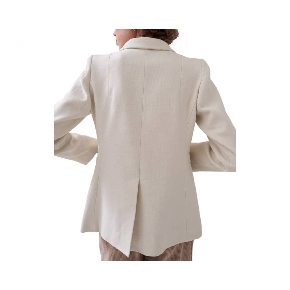 c. rampling jacket - cream - ryggen