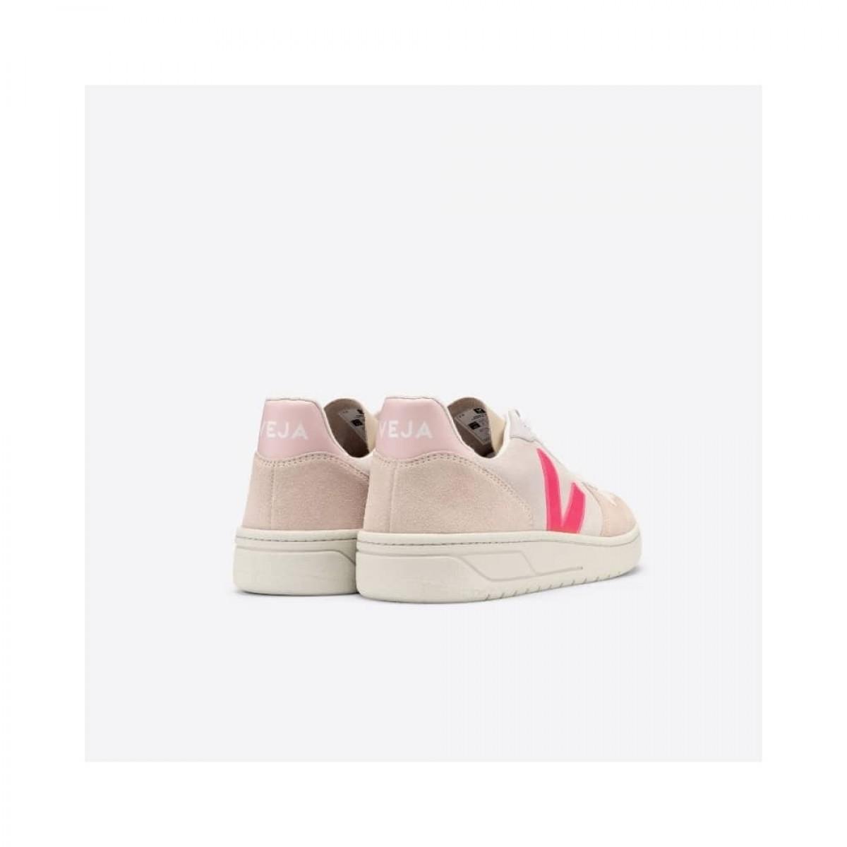 v-10 skind sneakers multico natural rose-fluo - bagfra