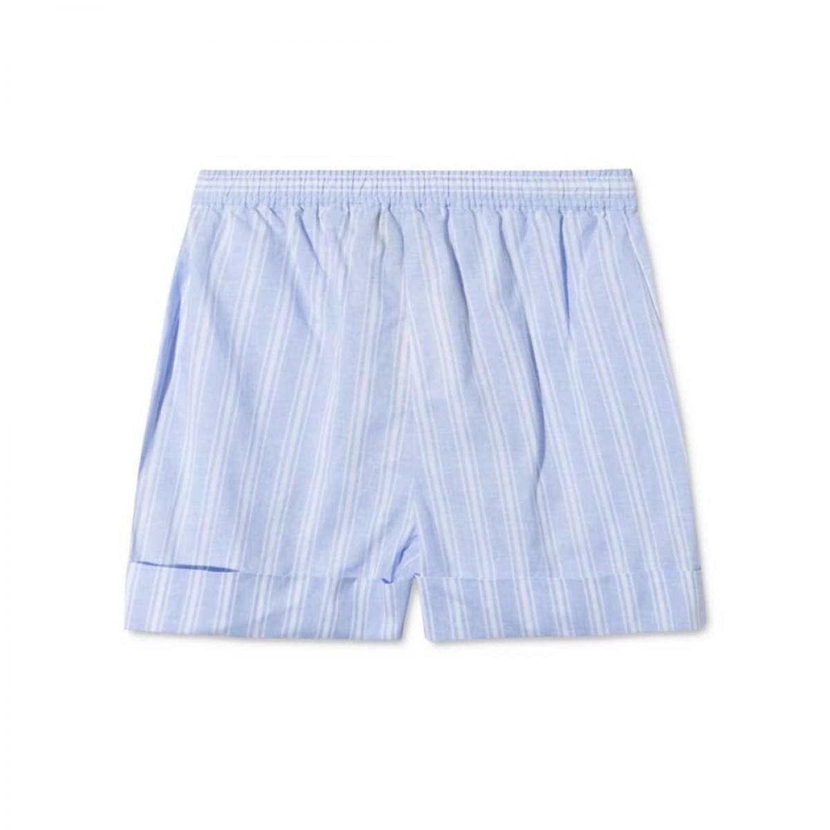 peony shorts - blue/white stripe - bag