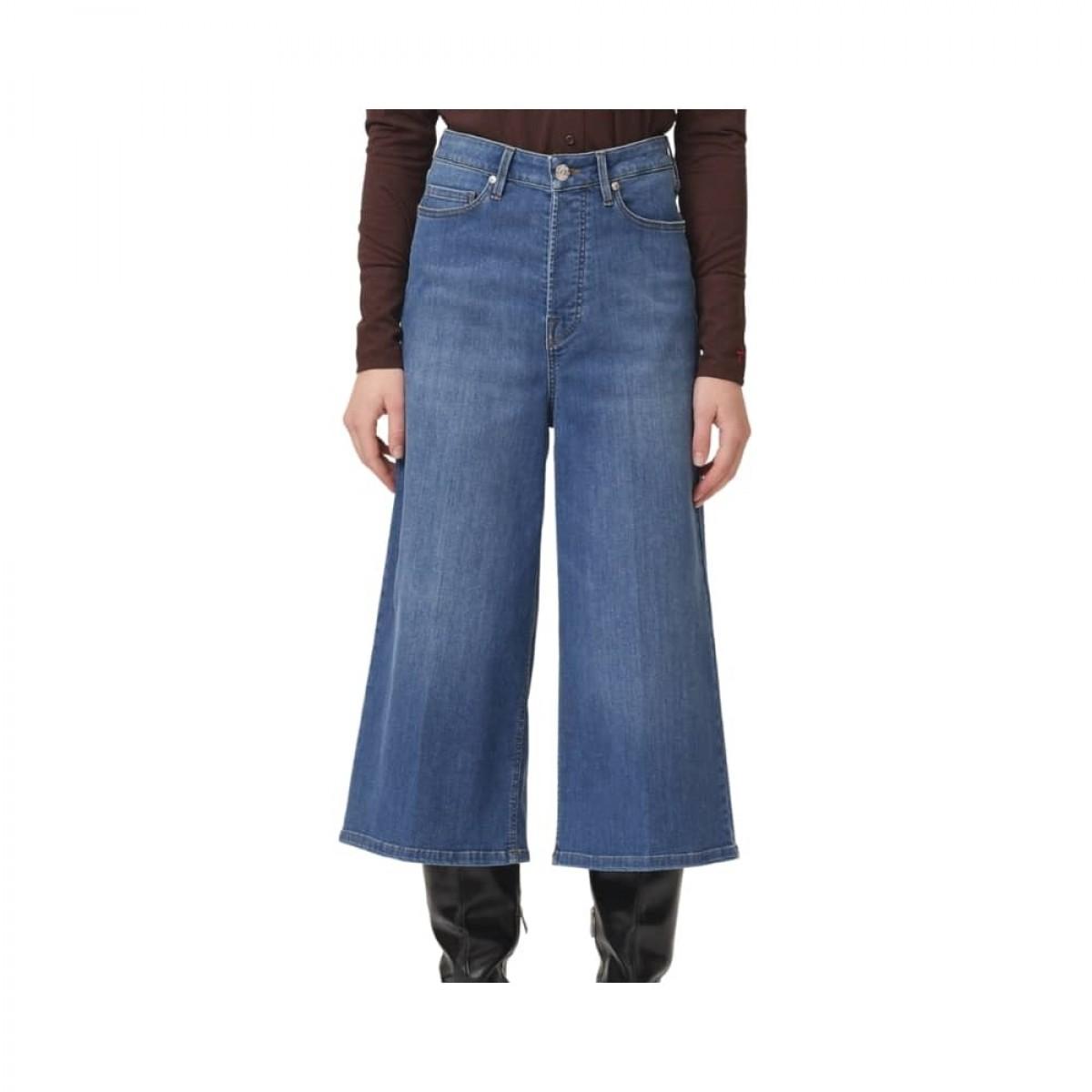 mandela culotte jeans - blue - ben detalje