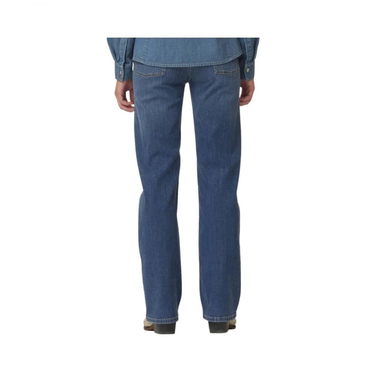 brown straight jeans - denim blue - model bagfra