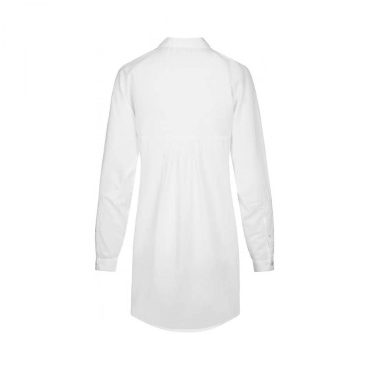 annie skjorte - white - ryggen