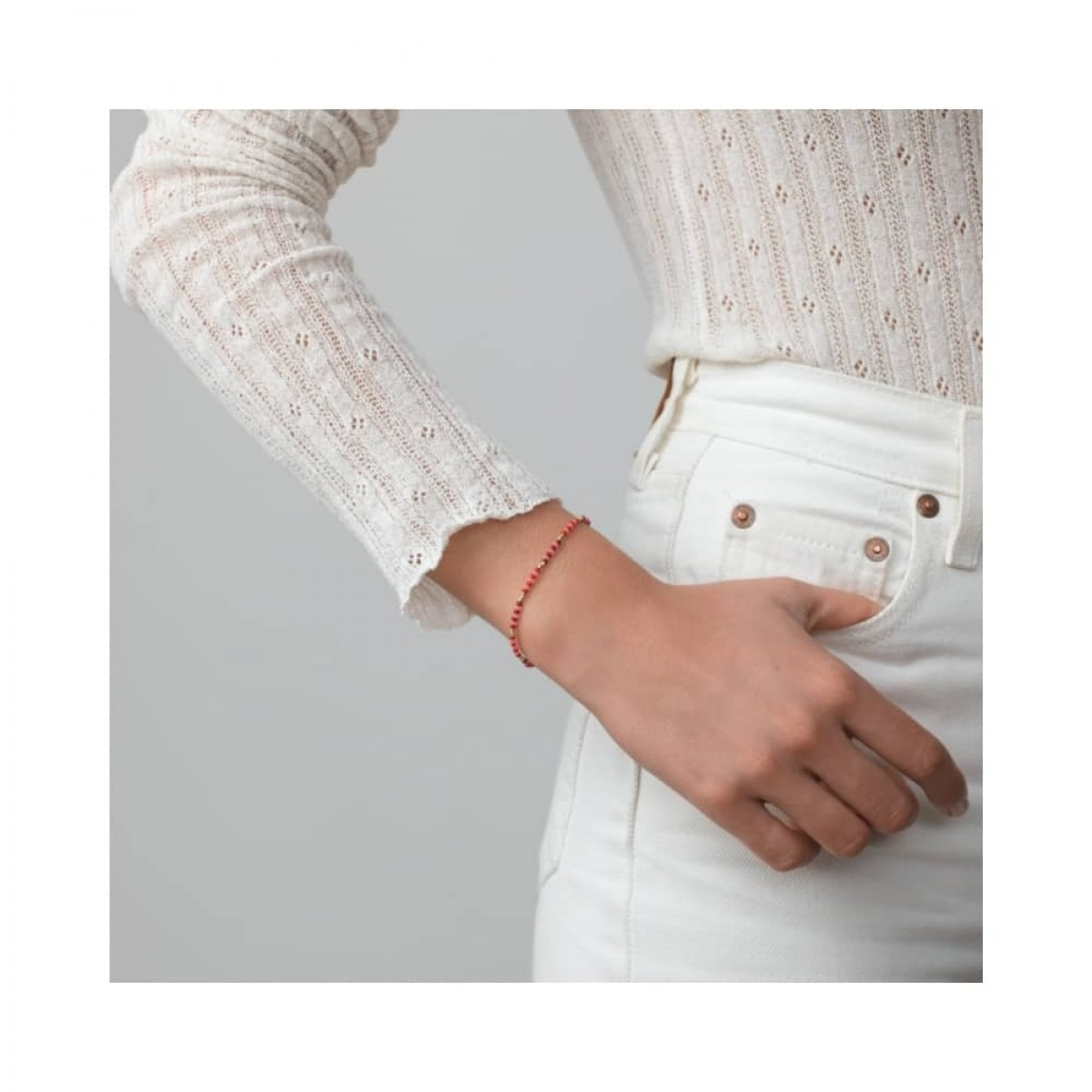 anni lu bundoran bracelet - paradise pink - model enkelt