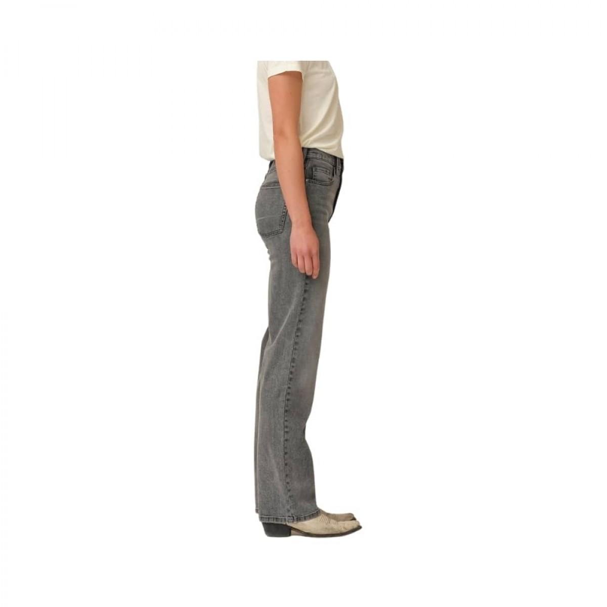 bowie hw cropped jeans - grey - model fra siden