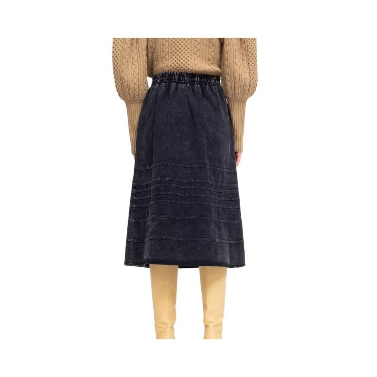 maura denim skirt - navy - bag