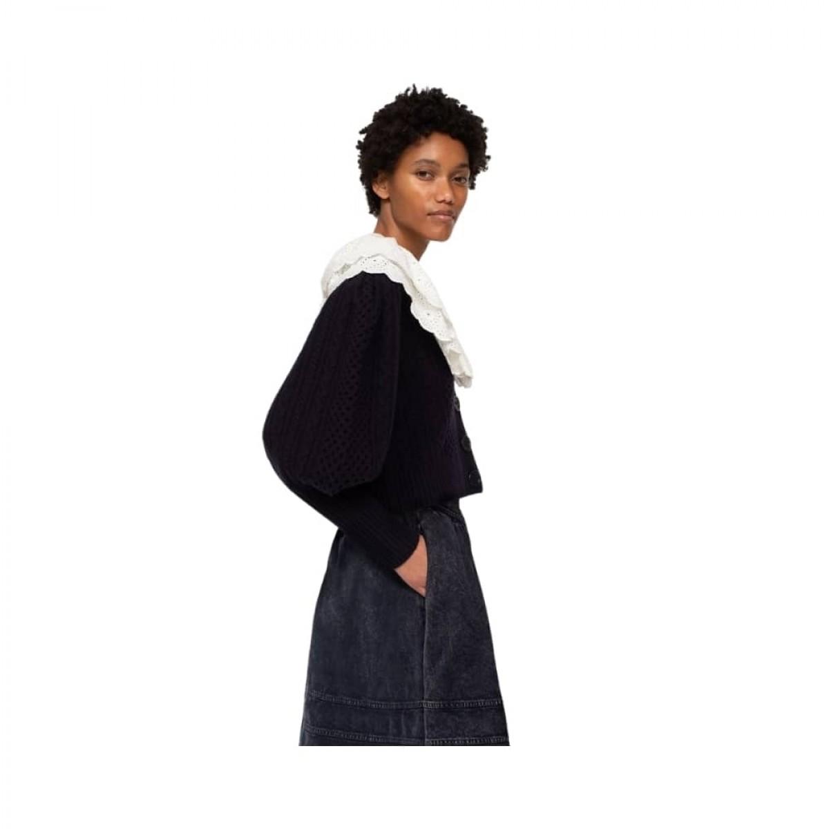 melanie cardigan - navy - model fra siden