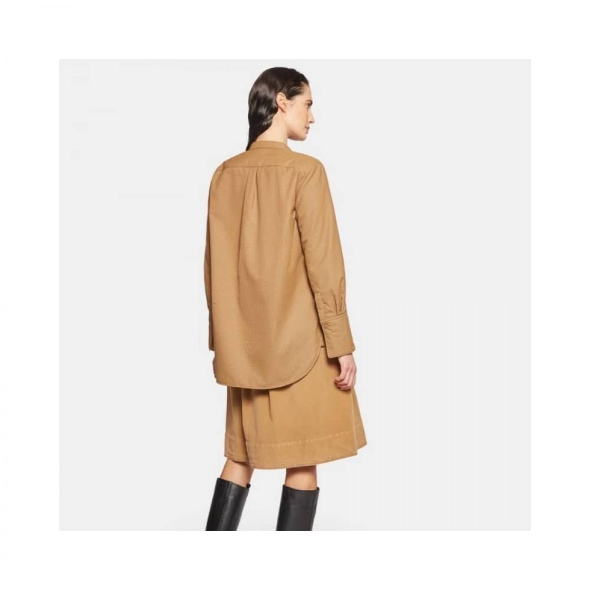 gonna moleskin nederdel - bronze - model bagtil