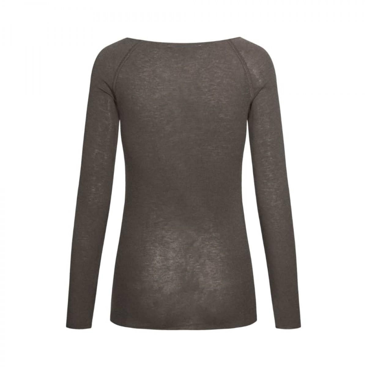 amalie bluse - soil brown - ryggen