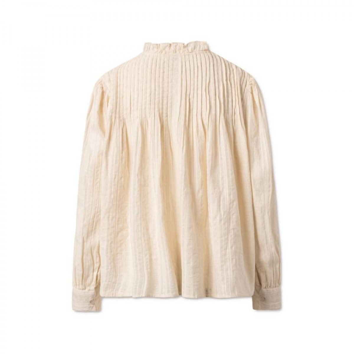isabel bluse - cream - ryggen