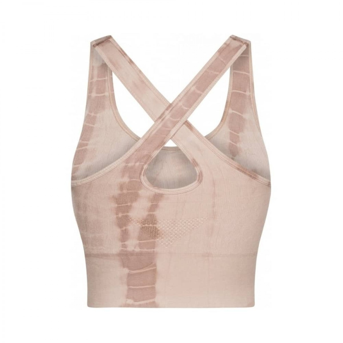 lifa yoga top - coublestone with taupe tie dye - ryggen