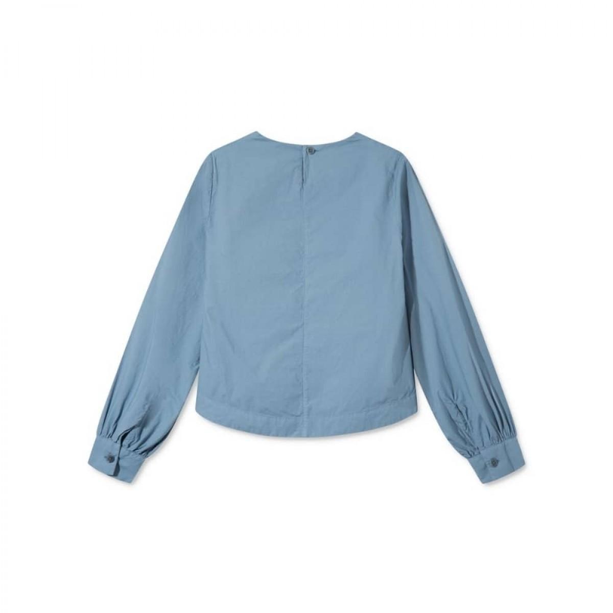 sada skjorte bluse - blue - ryggen