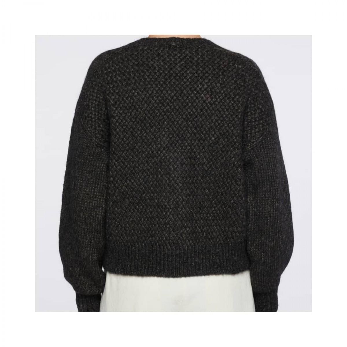 strik cardigan pomandére - dark grey - ryggen