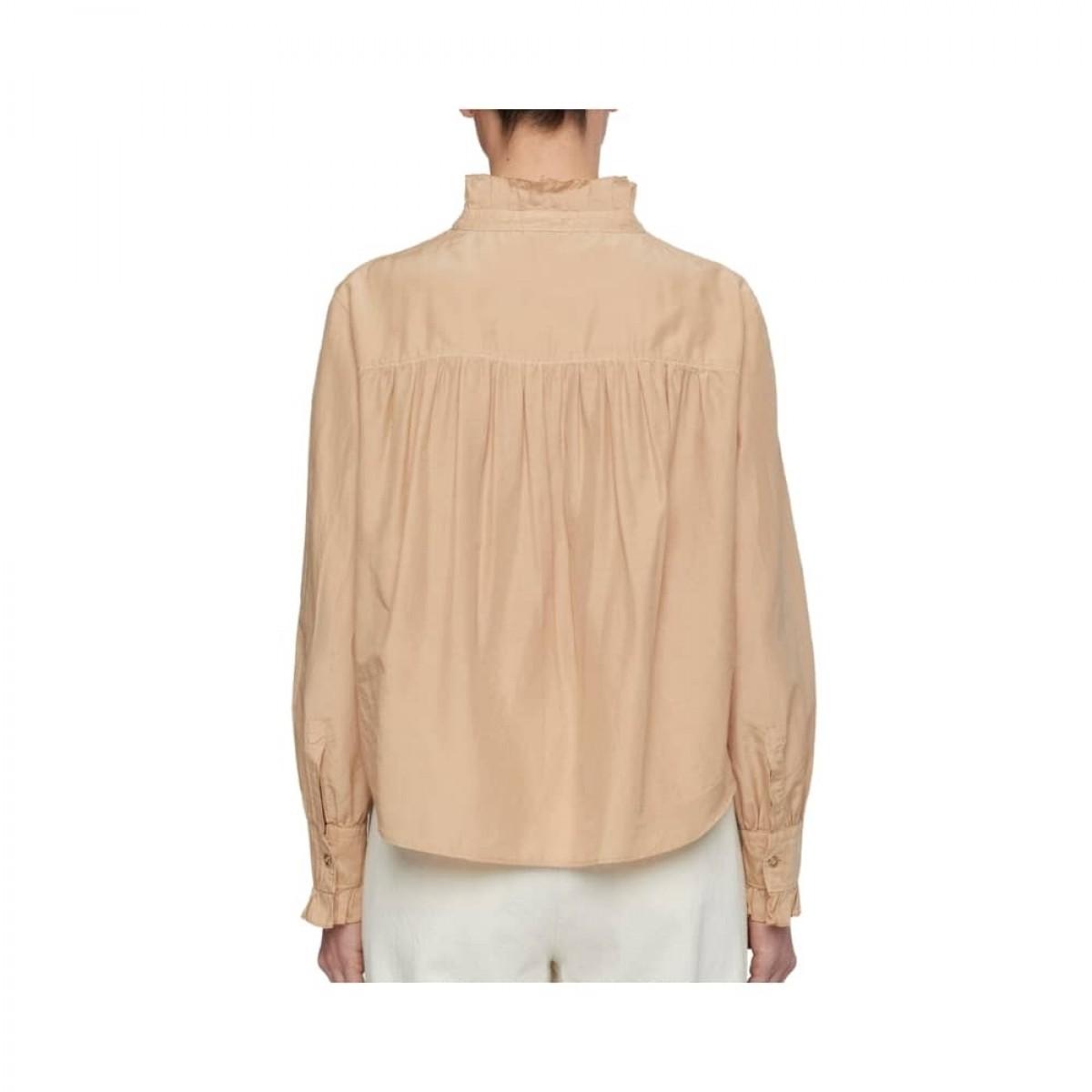 ensfarvet skjorte pomandére - cream - ryggen