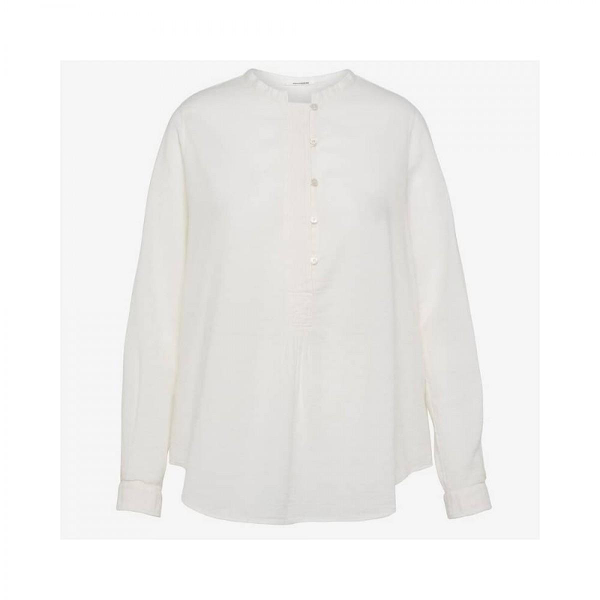ensfarvet skjorte pomandére - ecru - front