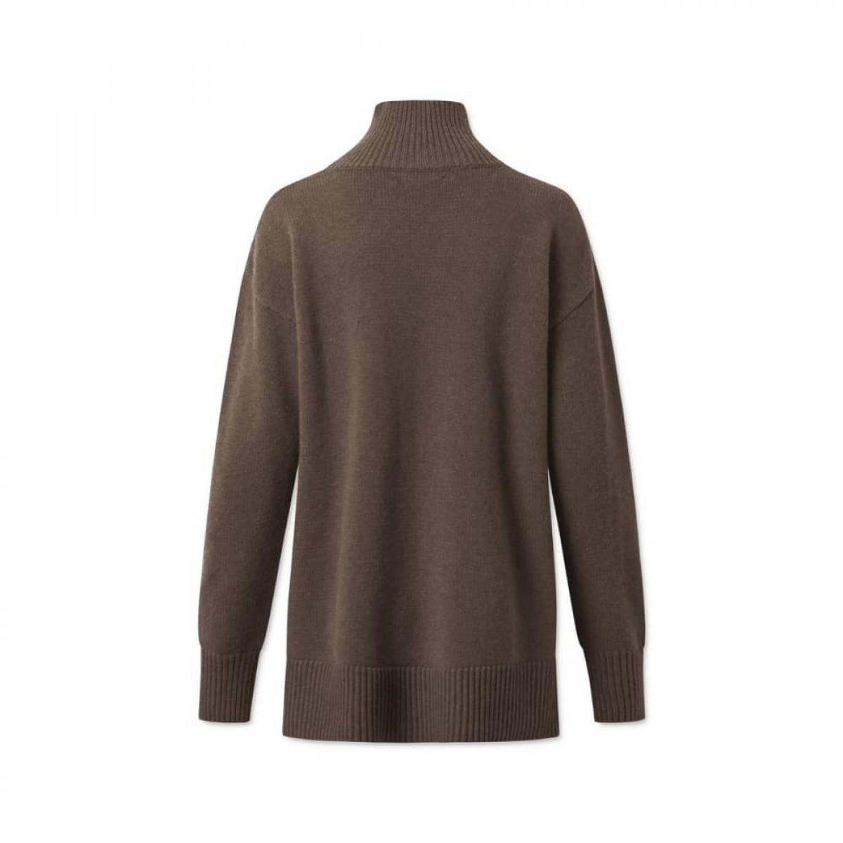 manny pullover - dark brown - ryggen