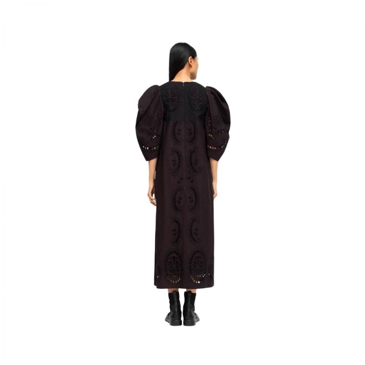 santos eyelet dress - black - model ryg