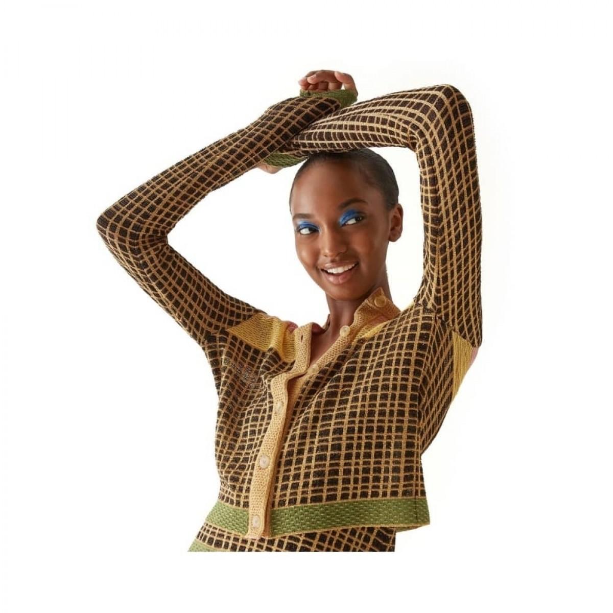 m missoni cardigan - multicolor - model front