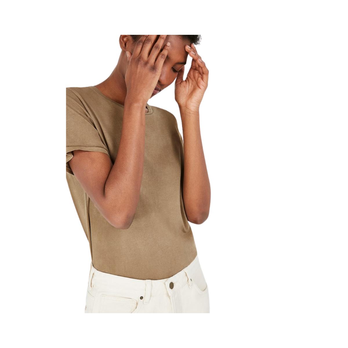 vegiflower t-shirt - camel - model billede