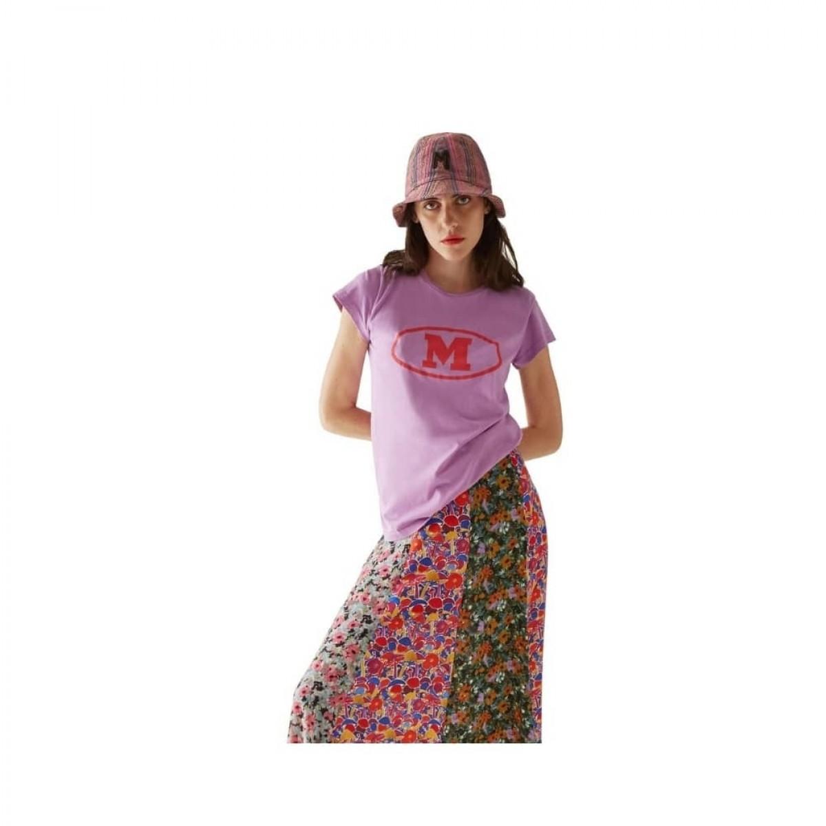 m missoni t-shirt - purple - front model