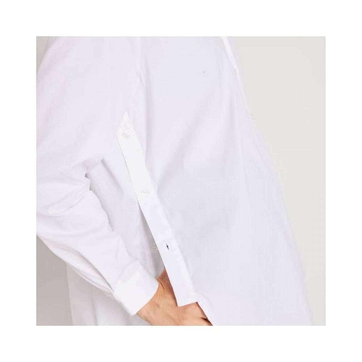 claudia skjorte - white - knap detalje