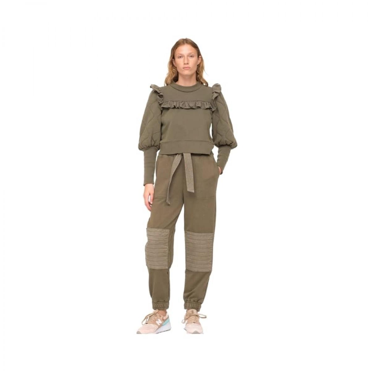 layla sweat pants - army - model front