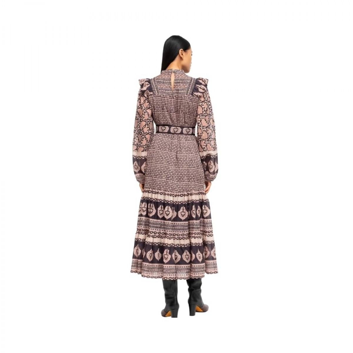margo border dress - lilac - model bagfra