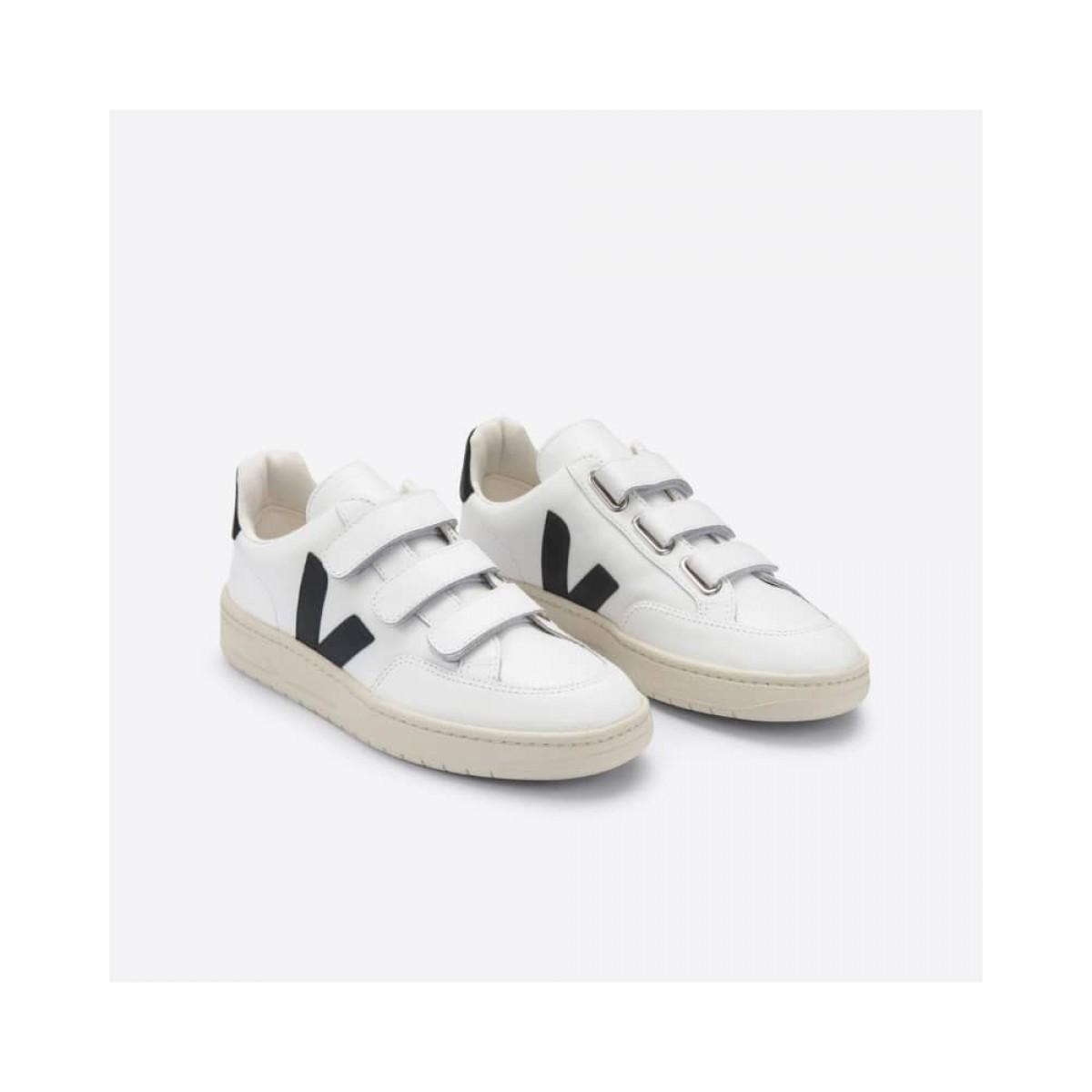 v-lock leather - extra white with black - på skrå