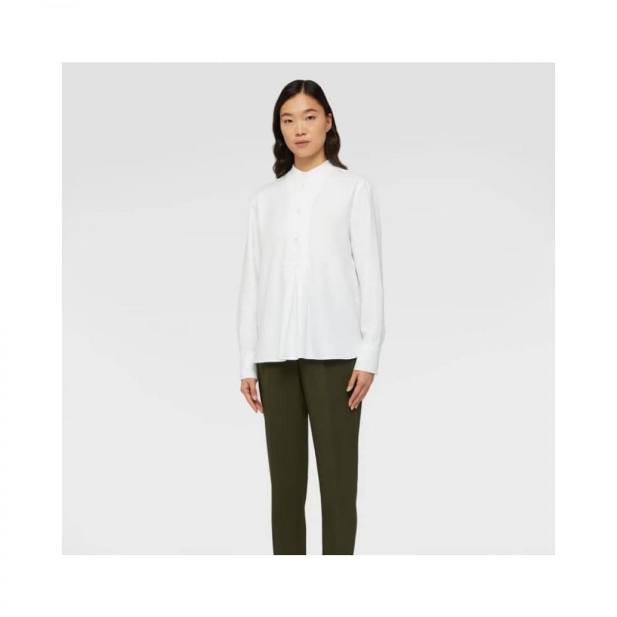 aspesi shirt - white - model front