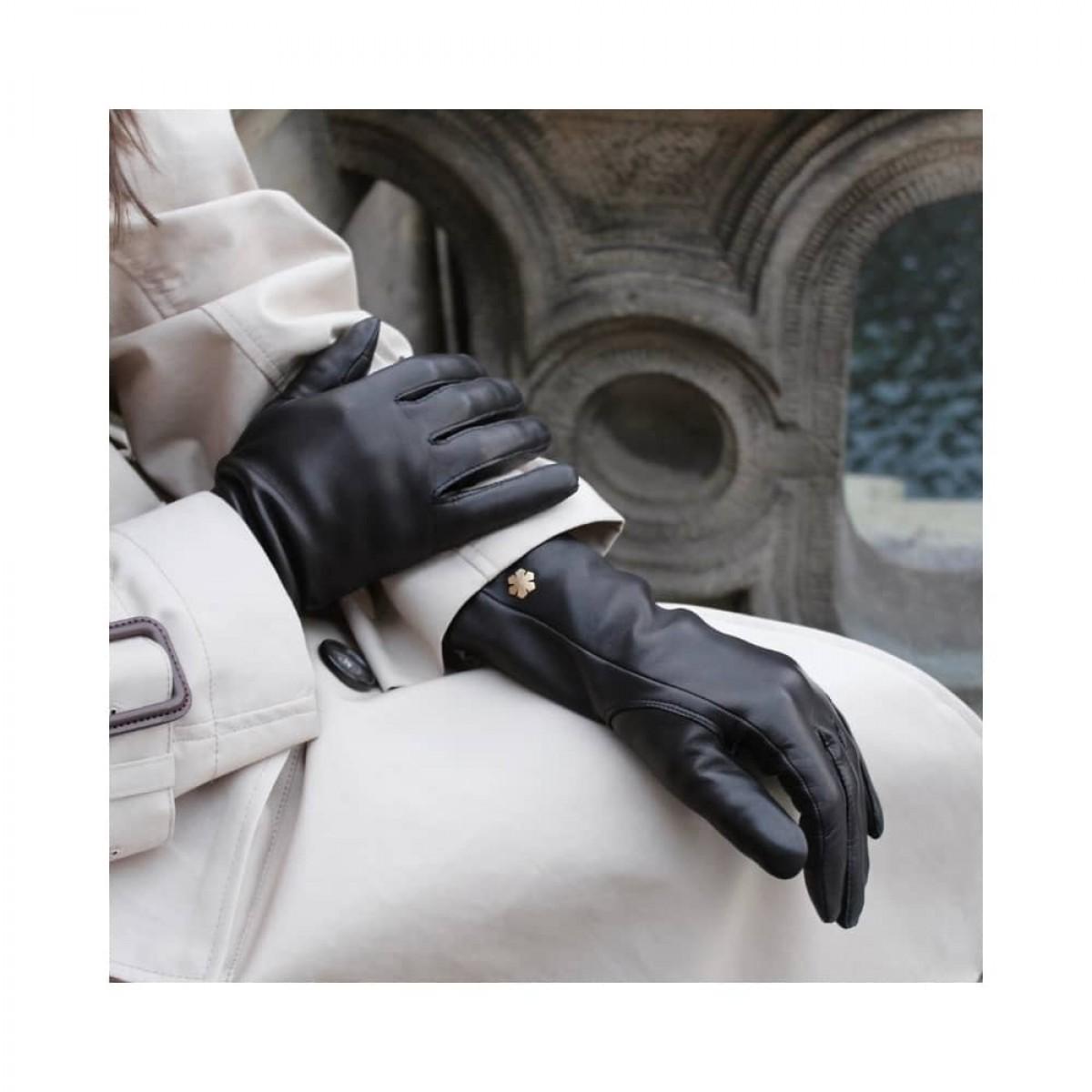 anna handske - black - siddende model