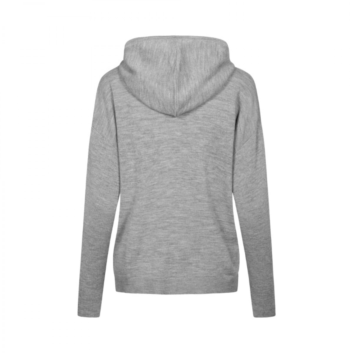 jenna merino hoodie - grey melange - bag