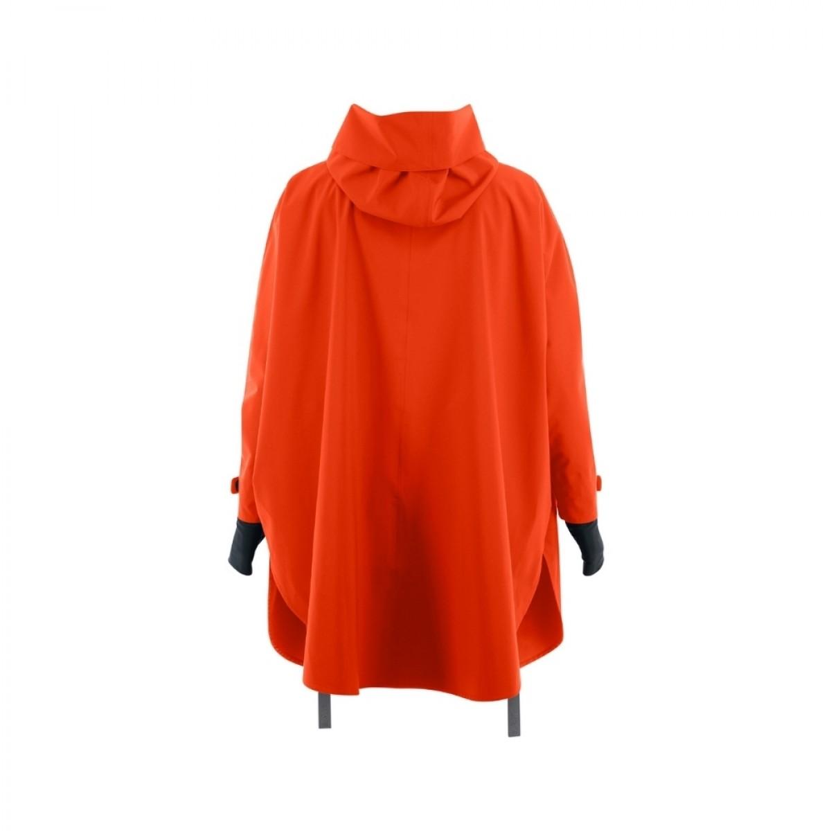 bergen regn poncho orange - bag
