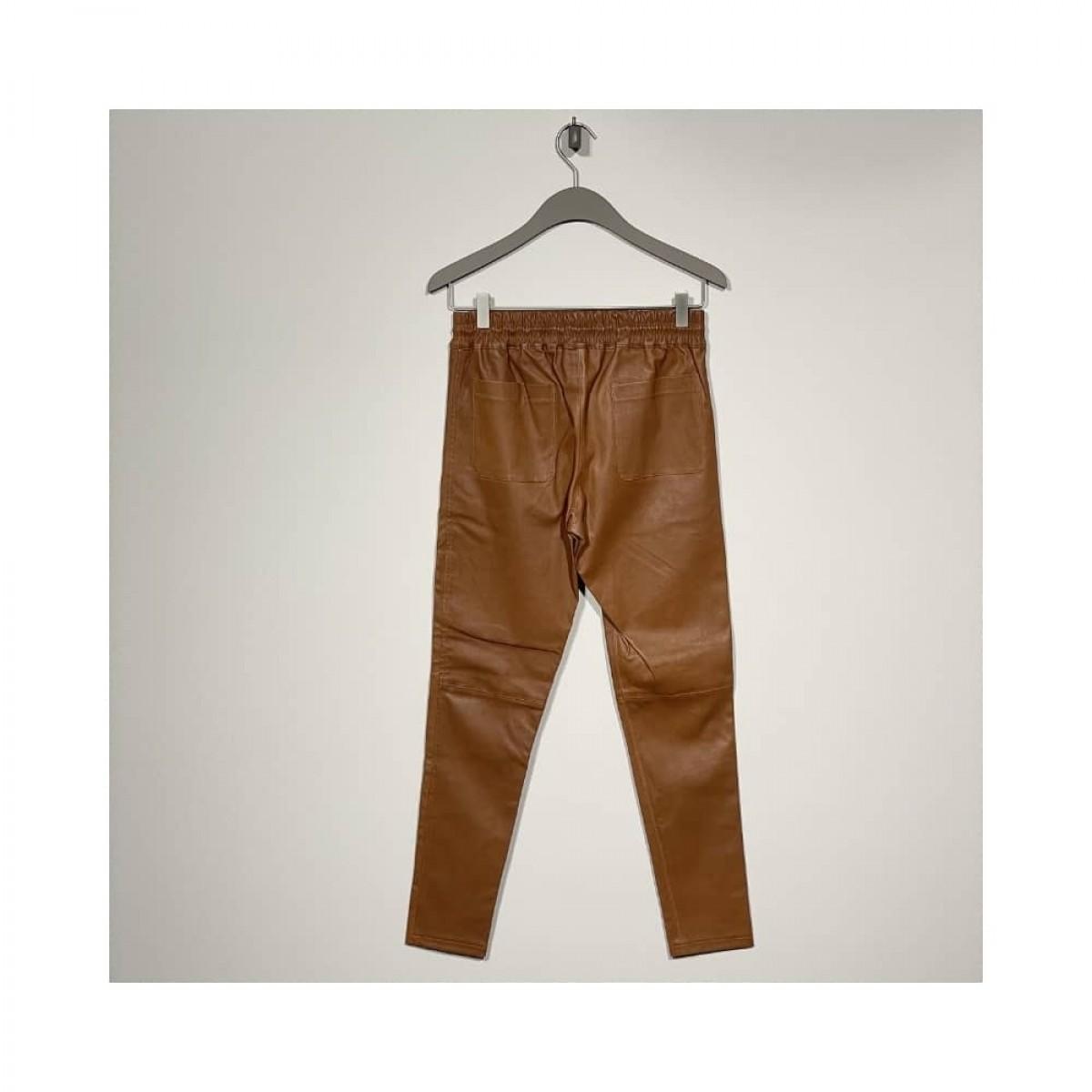 skind bukser - cognac - bag