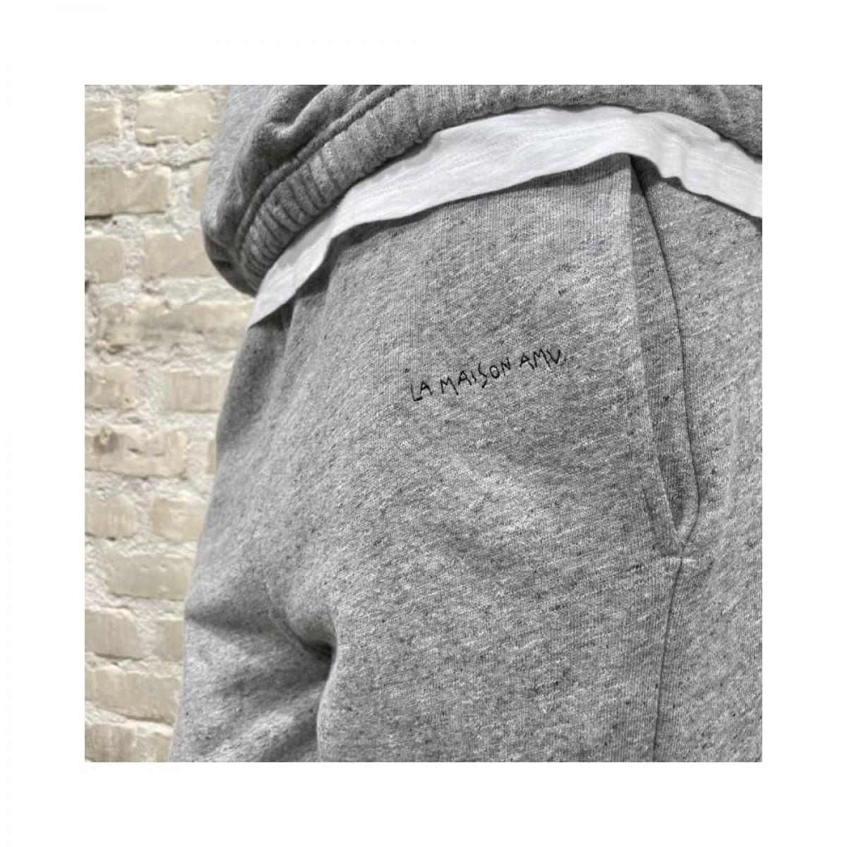 najabay sweat bukser - heather grey - broderi detalje