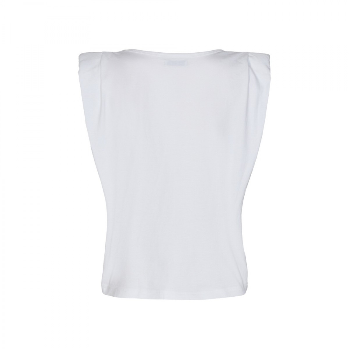 casual shoulder tee - white - bag