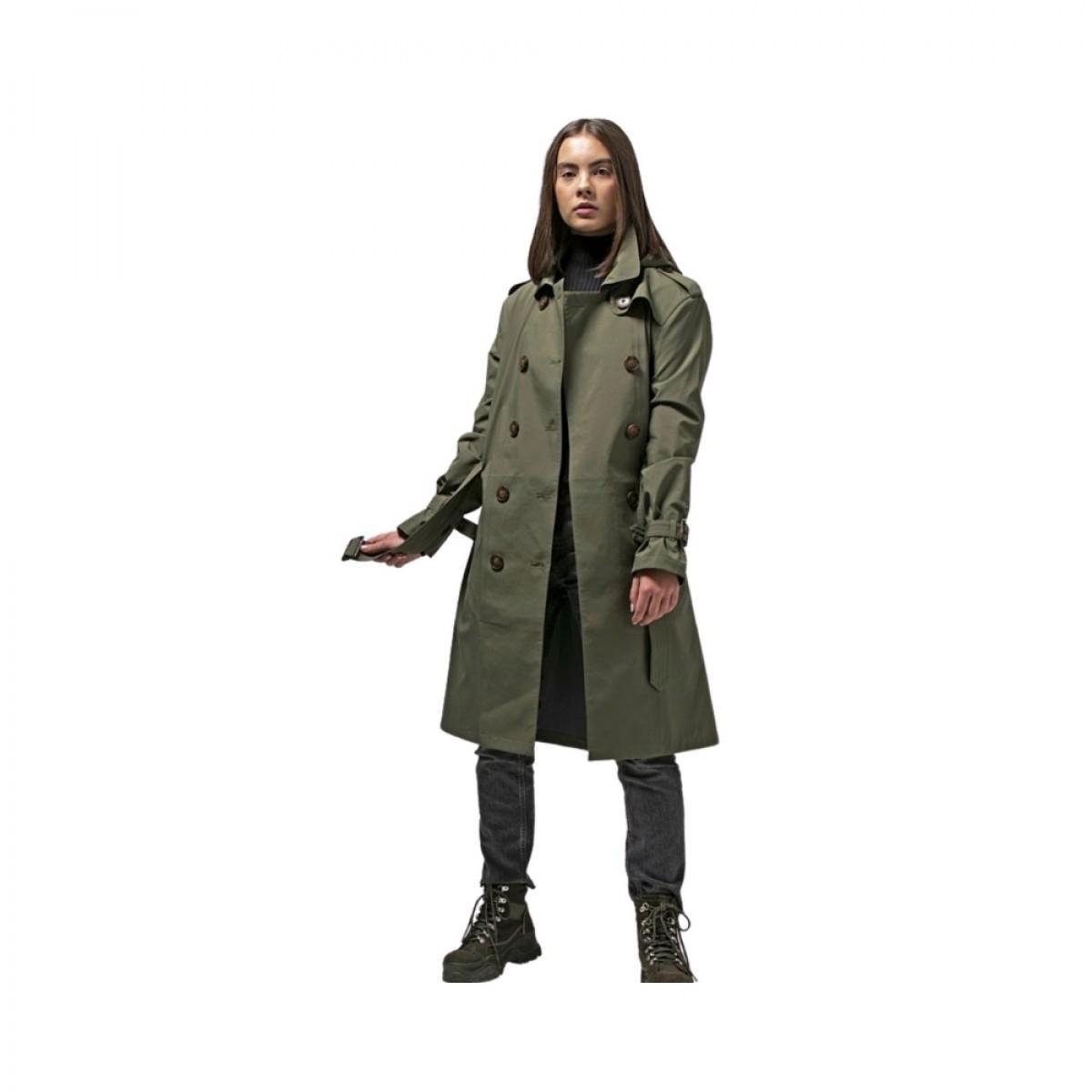 vigra regn frakke dark olive - model billede - siden