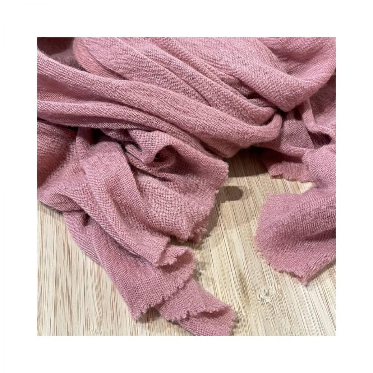 luxury m tørklæde - old pink - detalje