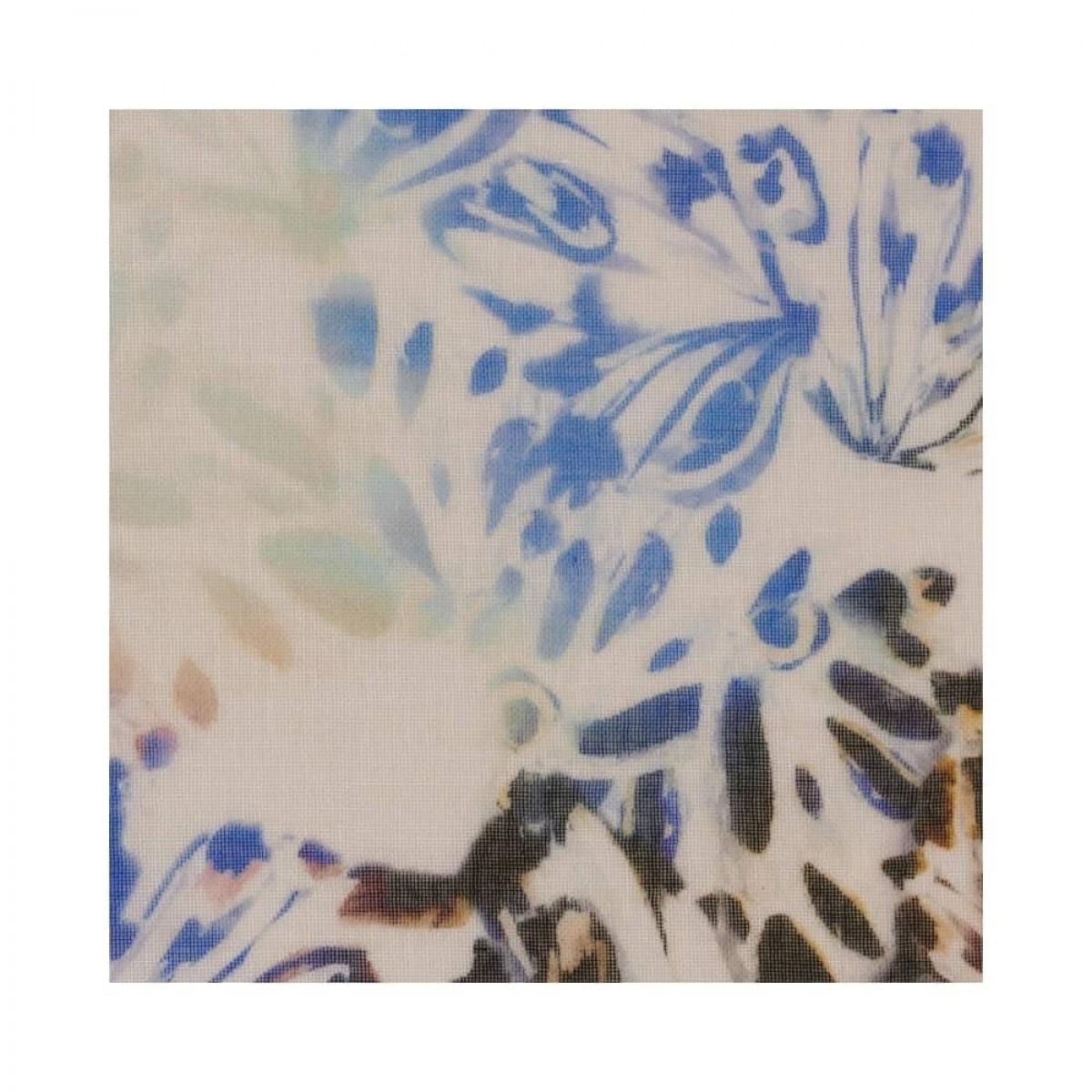 cotton voile tørklæde - butterfly blue - print