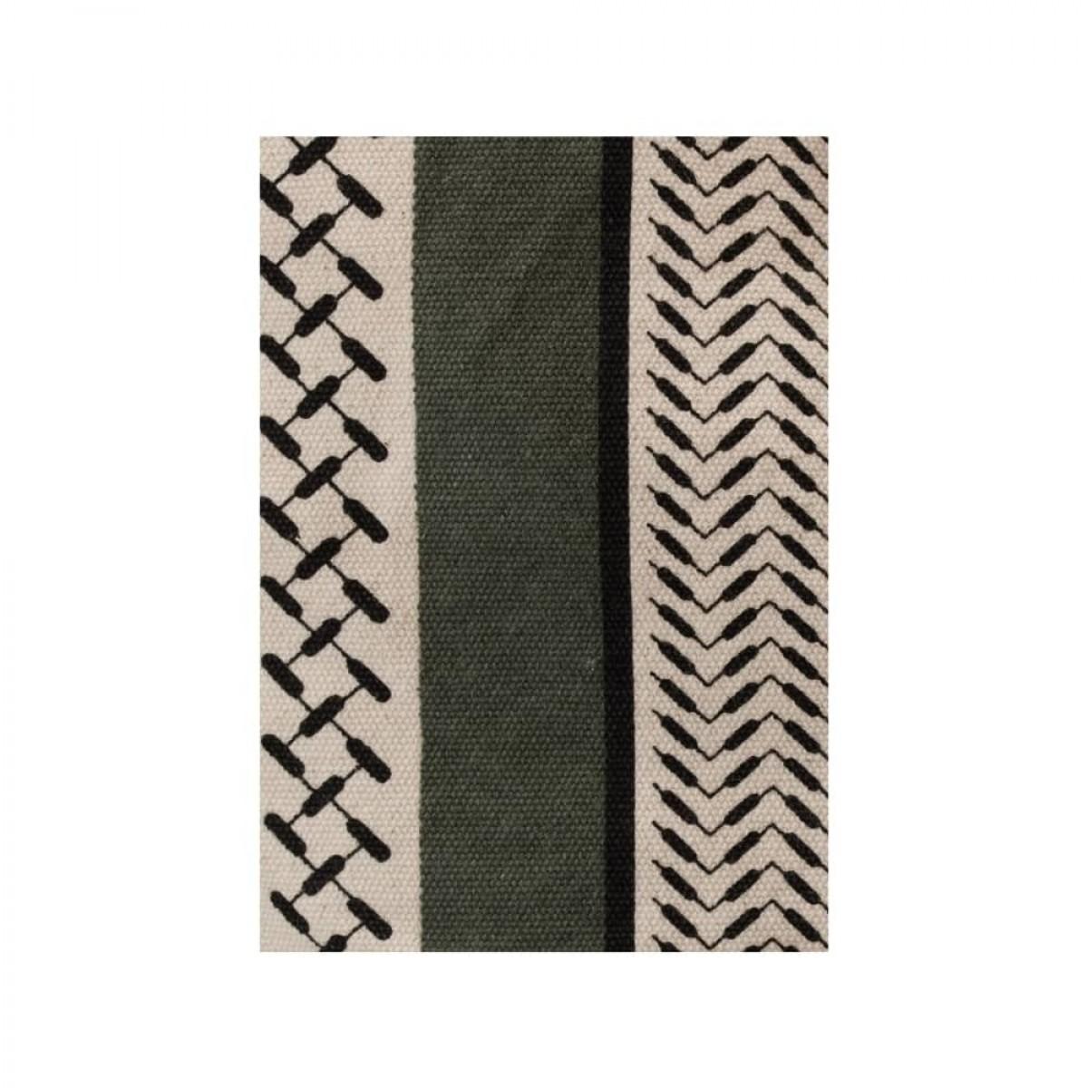 big bag muriel kufiya - olive/warm sand - print