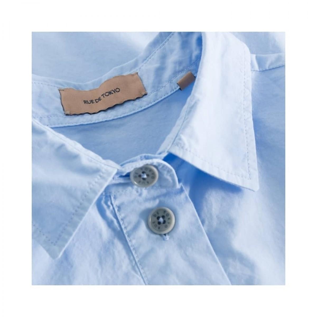 shiloh skjorte - light blue - krave