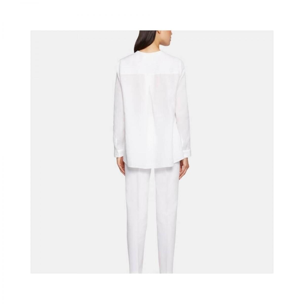 camicia donna skjorte - white - model ryg