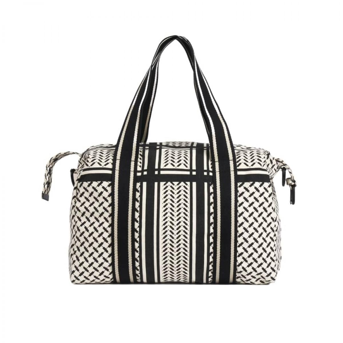 big bag muriel kufiya - off white/black - bag