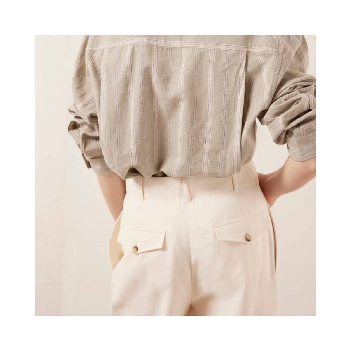 rodolf bukser - creme - model lomme detalje