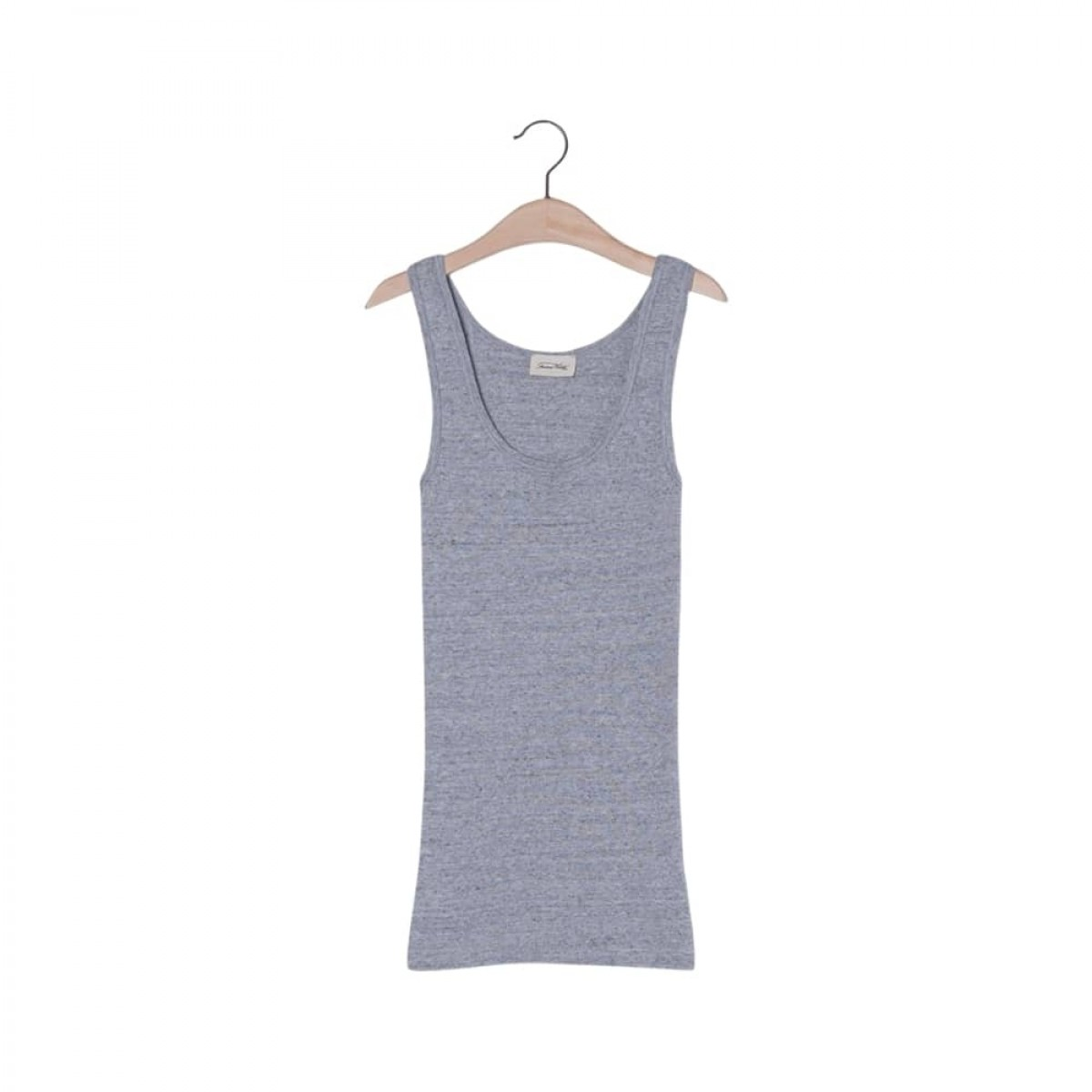 nooby top - heather grey - front