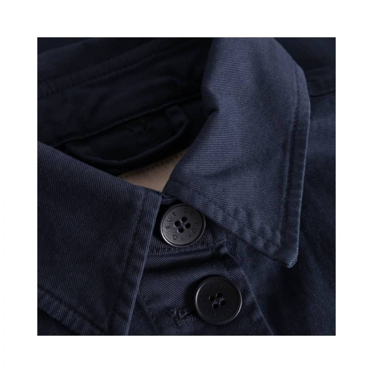 cady workwear jakke - navy - krave detalje