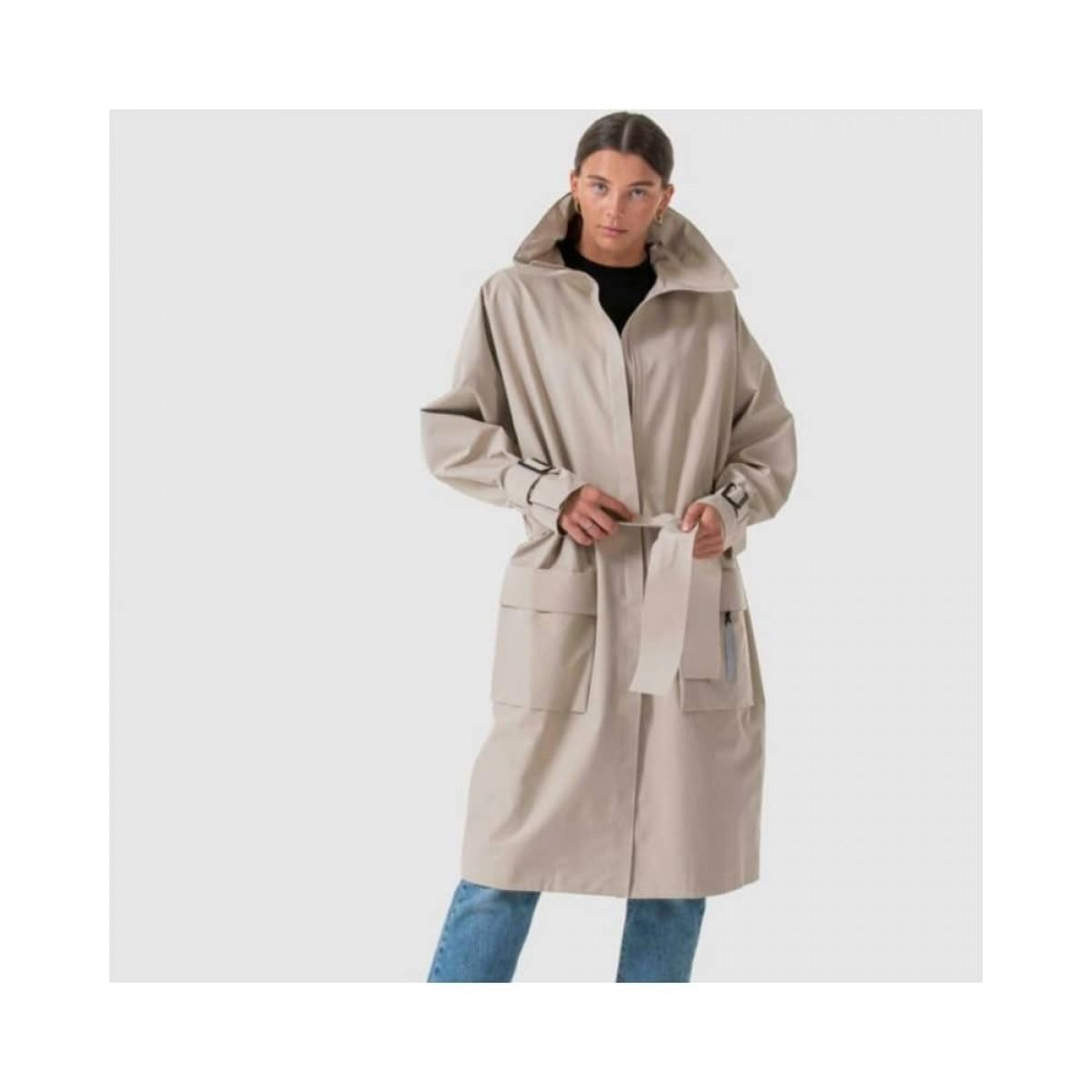 brosundet regn frakke - beige