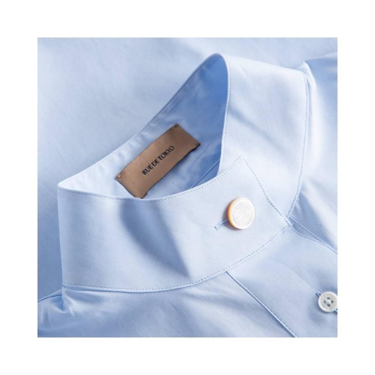 sera skjorte - light blue - krave detalje