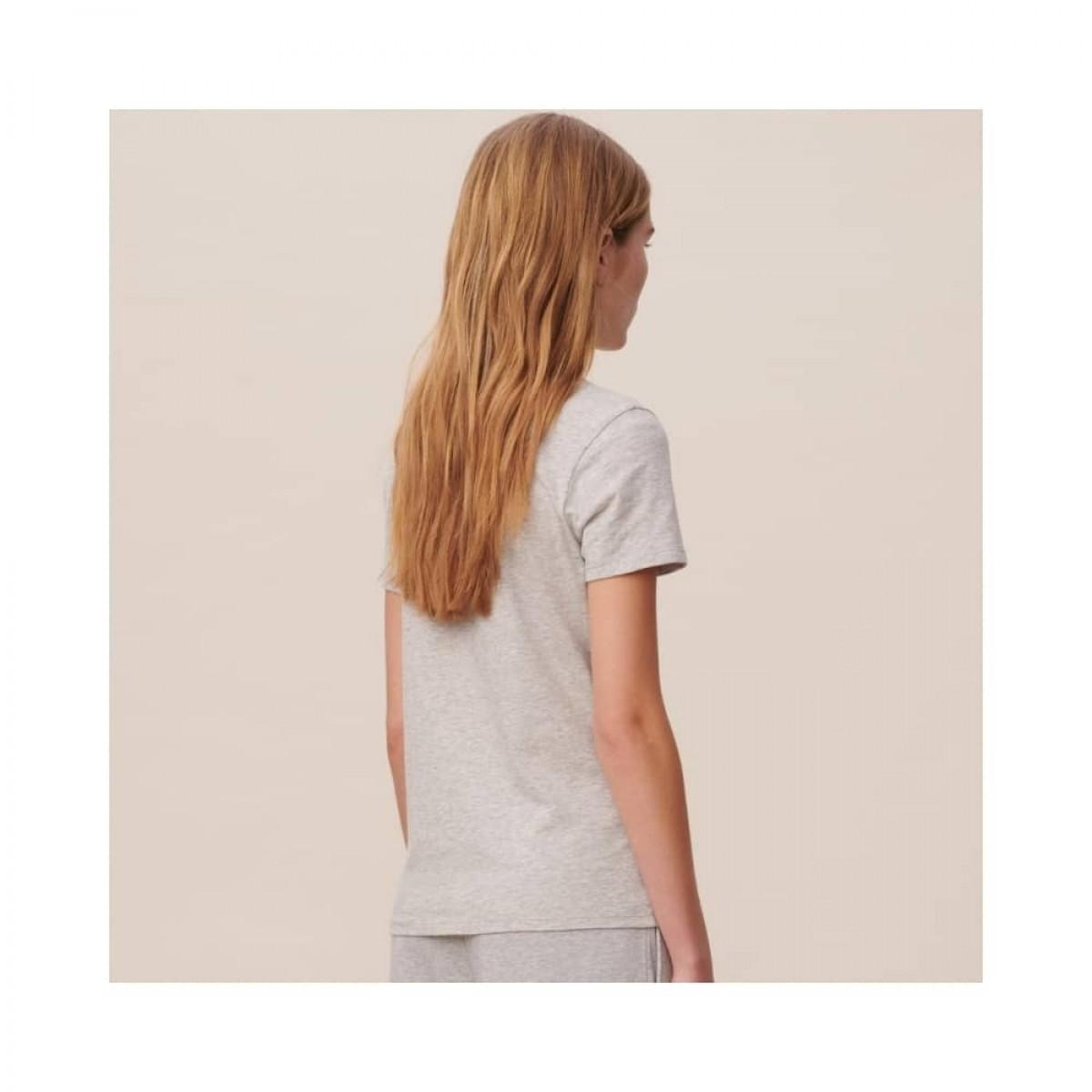 reda lala leo t-shirt - grey melange - model ryg
