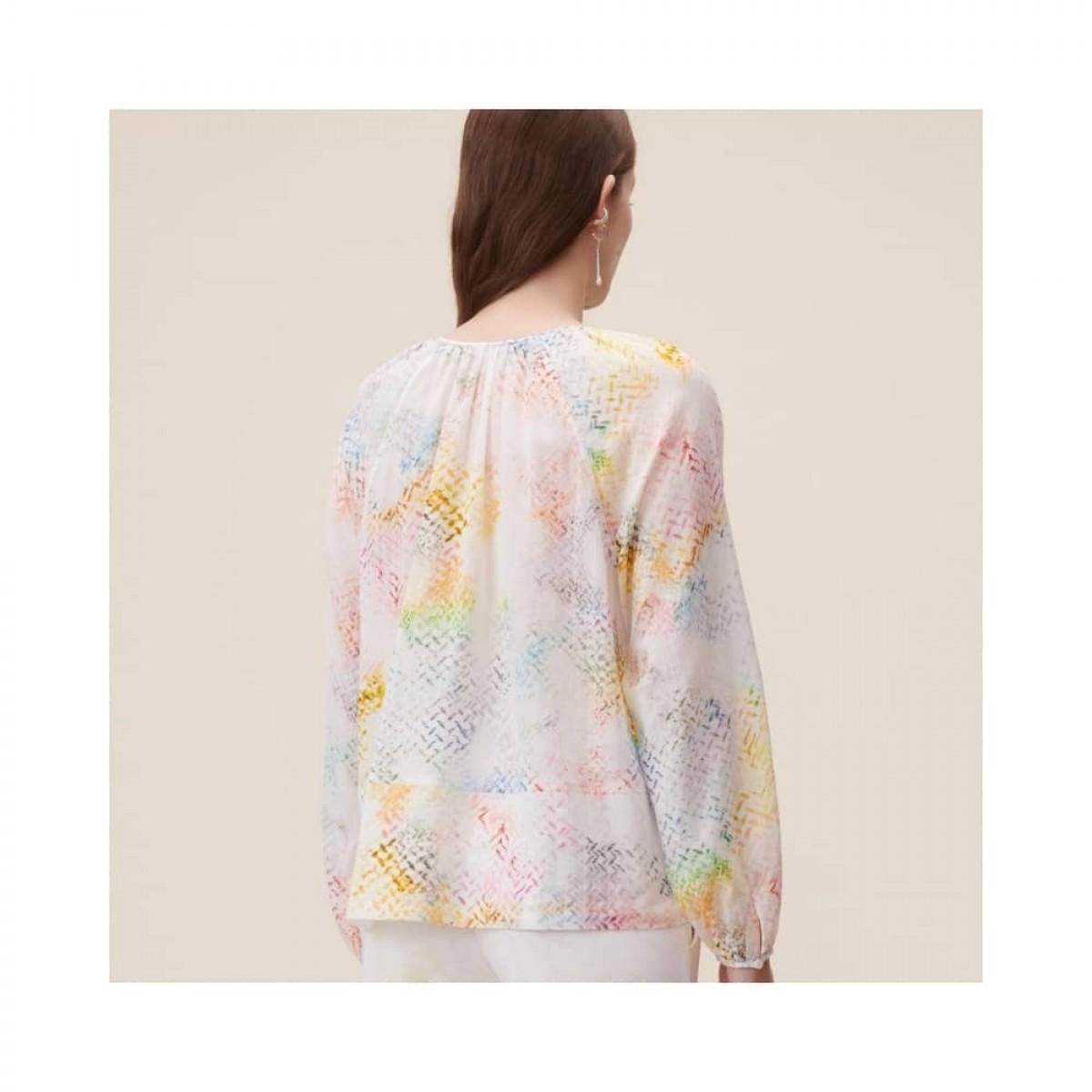 binia bluse - rainbow kufiya - model ryggen