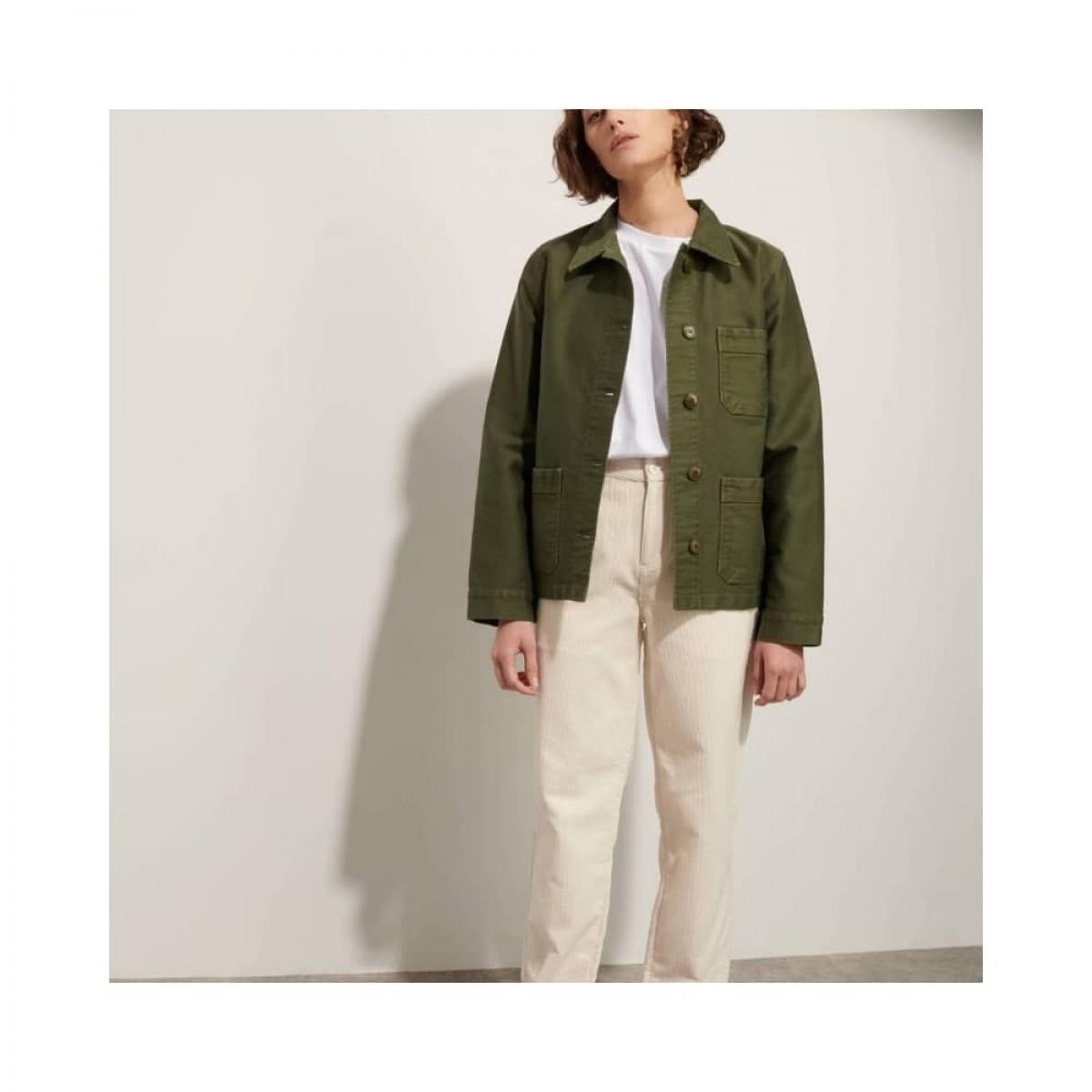 genuine work jacket - kaki - model front